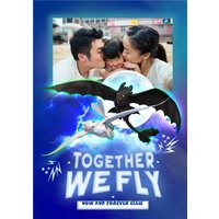'How To Train Your Dragon Together We Fly Family Valentines Photo Card, Standard Size By Moonpig