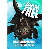 'Born Free - How To Train Your Dragon Birthday Card , Standard Size By Moonpig
