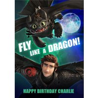 'Fly Like A Dragon - How To Train Your Birthday Card , Standard Size By Moonpig