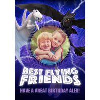 Best Flying Friends - How To Train Your Dragon Birthday Card , Giant Size By Moonpig