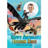 'Freedom Rider - How To Train Your Dragon Birthday Card , Standard Size By Moonpig
