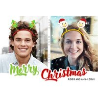 Christmas Ears Photo Upload Card, Standard Size By Moonpig