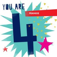 Bright Shapes You Are 4 Birthday Card, Large Square Card Size By Moonpig