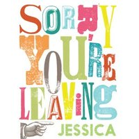 Funky Fonts And Colours Personalised Sorry You're Leaving Card, Giant Size By Moonpig