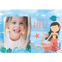 Mermaid Birthday Party Invitation, Standard Size By Moonpig