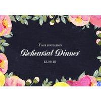 Bright Neon Flowers Wedding Rehearsal Dinner Invitation, Standard Size By Moonpig