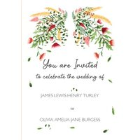 Floral Personalised Wedding Invitation, Standard Size By Moonpig