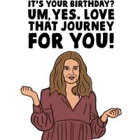Funny Spoof TV Show Love That Journey For You Birthday Card, Standard Size By Moonpig