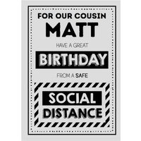Jam And Toast Cousin Safe Social Distancing Birthday Card, Giant Size By Moonpig