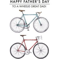 Bike Illustration To A Wheelie Great Dad Happy Father's Day Card, Standard Size By Moonpig