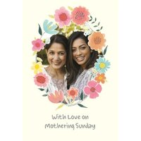 With Love On MoThering Sunday Photo Mother's Day Card, Large Size By Moonpig