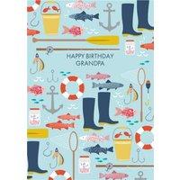 Fishing Birthday Card For Grandpa