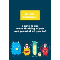 James Ellis Stevens Dogs Grandson Thinking Of You Card, Large Size By Moonpig