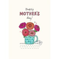 Happy Mother's Day Illustration Of Flowers Card, Giant Size By Moonpig