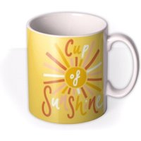 Cup Of Sunshine Typographic Birthday Mug by Moonpig, Gift Set - Delivery Available