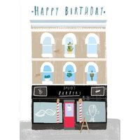Personalised Barber Shop Happy Birthday Card, Large Size By Moonpig