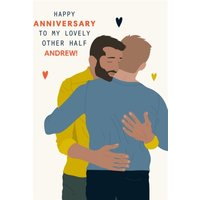 Illustrated To My Lovely Other Half Anniversary Card, Standard Size By Moonpig