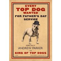 Every Top Dog Wanted Card, Giant Size By Moonpig