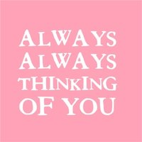 Always Thinking Of You Card, Large Square Card Size By Moonpig