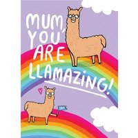 Mum You Are Llamazing Mothers Day Card, Standard Size By Moonpig