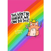 This Wont Be Forever We Can Do Card, Giant Size By Moonpig