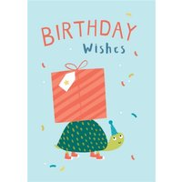 Klara Hawkins Tortoise Birthday Greeting Card , Standard Size By Moonpig
