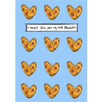 KitsCH Noir Illustrated Food Valentines Card, Large Size By Moonpig
