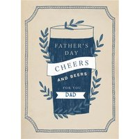 Cheers & Beers For You Dad Happy Father's Day Card, Giant Size By Moonpig