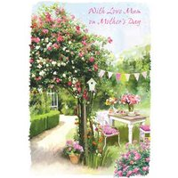 Garden Picnic With Love Mum On Mothers Day Card, Standard Size By Moonpig