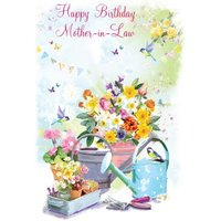 Floral Gardening Birthday Card For Mother In Law, Large Size By Moonpig