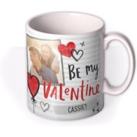 Valentine's Day Heart Striped Photo Upload Mug by Moonpig, Gift Set - Delivery Available