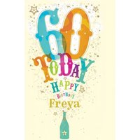 60th Birthday Card - Personalised Card, Giant Size By Moonpig