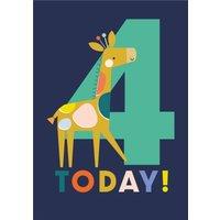 Cute I'm Three Giraffe Birthday Card