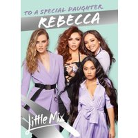Little Mix Special Daughter Birthday Card, Large Size By Moonpig
