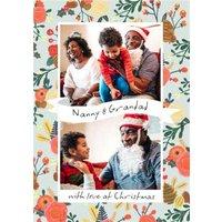 Le Jardin De Fleur Christmas Photo Upload Card Nanny And Grandad With Love At Christmas, Standard Si