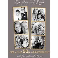 On Your 50th Anniversary Photo Upload Card , Giant Size By Moonpig