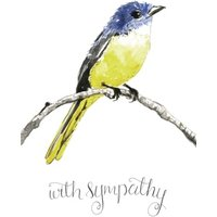 Illustrated Bird With Sympathy Card, Large Size By Moonpig