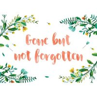 La Jolie Boutique Gone But Not Forgotten Card, Standard Size By Moonpig