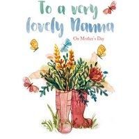 To A Very Lovely Nanna On Mother's Day - Card, Large Size By Moonpig