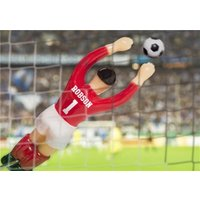 Table Football Goalkeeper Personalised Happy Birthday Card, Large Size By Moonpig