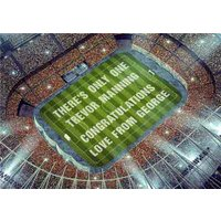 Limelight Congratulations Personalised Football Stadium Card, Standard Size By Moonpig