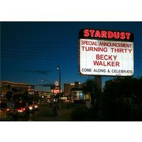 Las Vegas Skyline Stardust Welcome Sign Hotel Personalised Card, Large Size By Moonpig