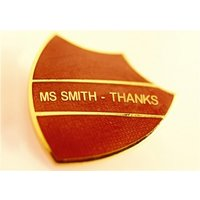 Red Prefect Badge With Your Name Personalised Thank You Card, Giant Size By Moonpig