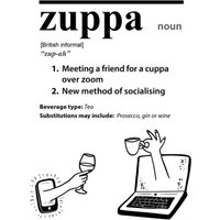 Funny Covid New Dictionary Word Zuppa Card, Giant Size By Moonpig