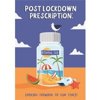 Funny Post Lockdown Prescription Birthday Card, Large Size By Moonpig