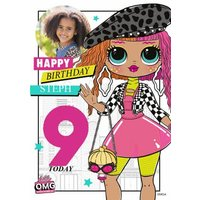 LOL Surprise Happy Birthday Personalised Photo And Age Card, Large Size By Moonpig