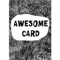 Biro Awesome Card, Standard Size By Moonpig