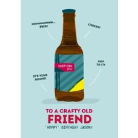 Funny Birthday Card To A Crafty Old Friend, Giant Size By Moonpig