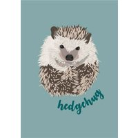 Illustrated Hedgehog Hug Pun Card, Giant Size By Moonpig