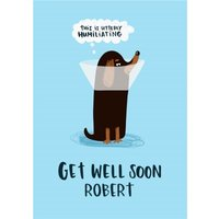 'Lucy Maggie Dog Cone Get Well Soon Card, Standard Size By Moonpig